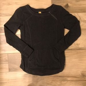 lucy crew neck sweatshirt with zipper accent! XS